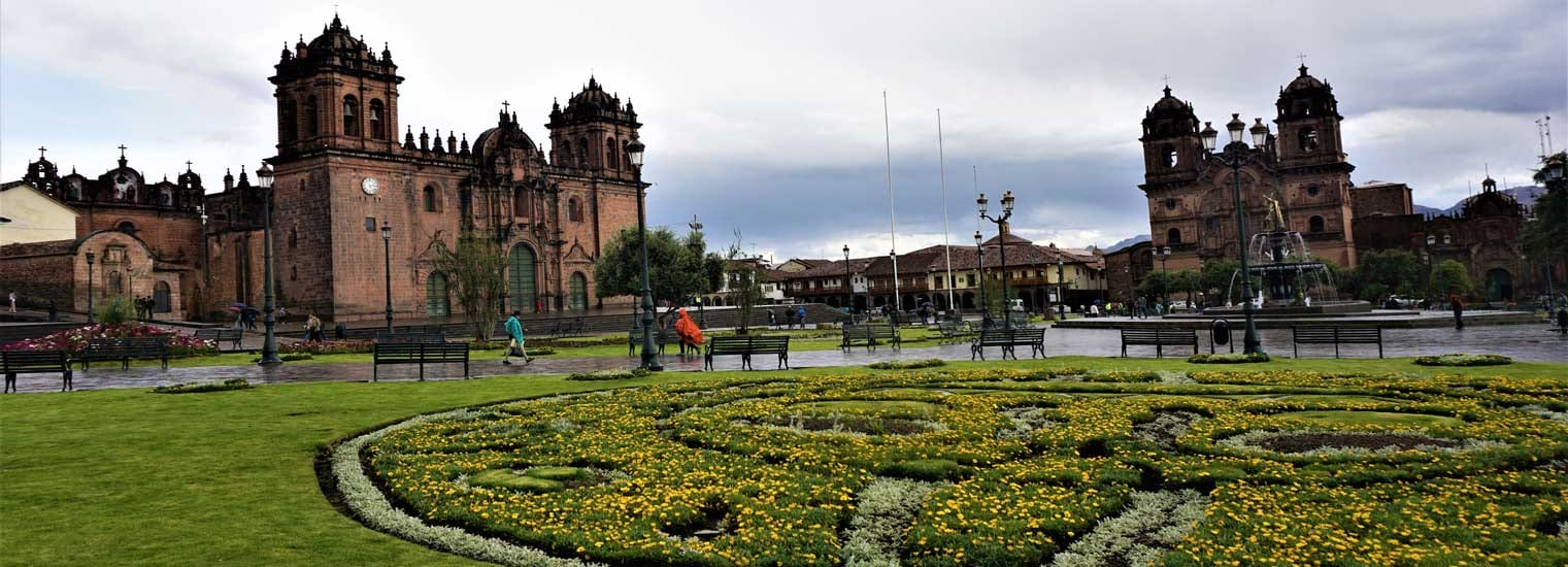 Main square en in Cusco, called: Plaza de Armas