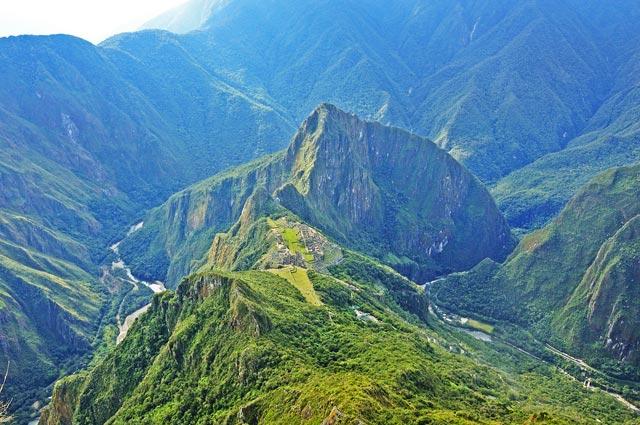 Machu Picchu view from Machu Picchu Mountain