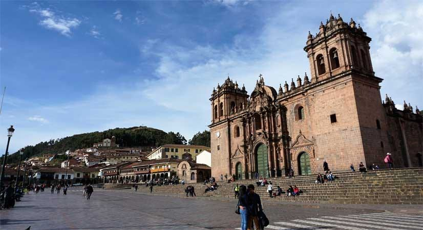 cusco main square and main catedral.