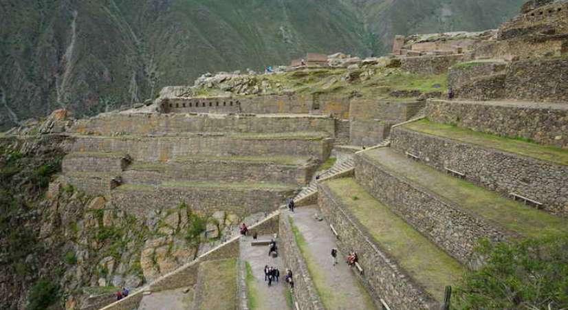 ollantaytambo inca site Machu Picchu 2 Day Hike + Sacred Valley + Inca Bridge