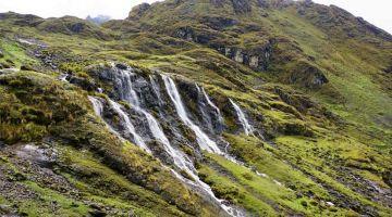 lares waterfalls in quishuarani inca community
